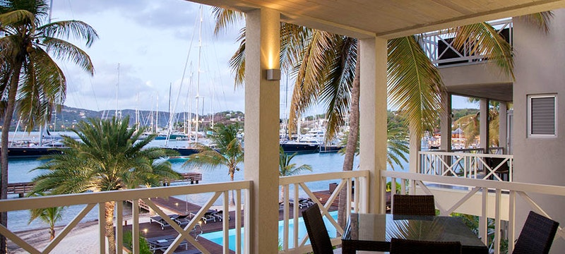 Balcony view at South Point, Antigua