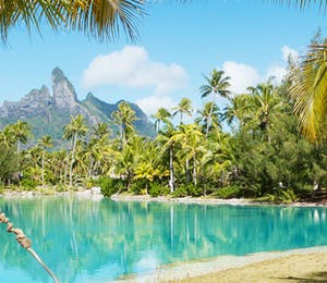 Beach at St Regis Bora Bora