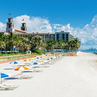Beach at The Breakers, Palm Beach, Florida