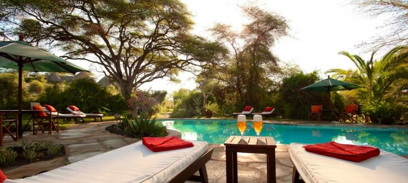 Outside pool at Tortilis Camp, Kenya
