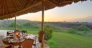 Dining area at Tortilis Camp, Kenya
