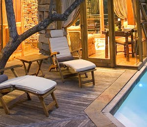 Treetop Lodge pool at Tsala Treetop Lodge, Plettenberg bay