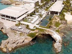 A stunning overview of Four Seasons Anguilla Resort featuring The Sunset Lounge and Pool