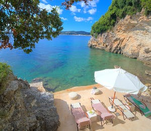 Beach at Villa Domina, Corfu, Greece