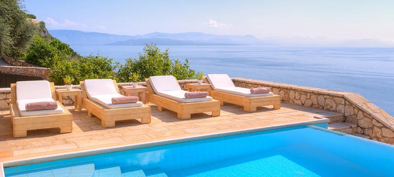 Pool Area at Villa Domina, Corfu, Greece