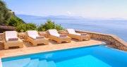 Pool Area at Villa Domina, Corfu, Greece