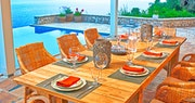 Dining Area at Villa Domina, Corfu, Greece