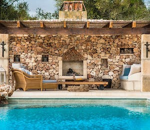 Pool Area at Villa Eulalia, Mallorca, Spain