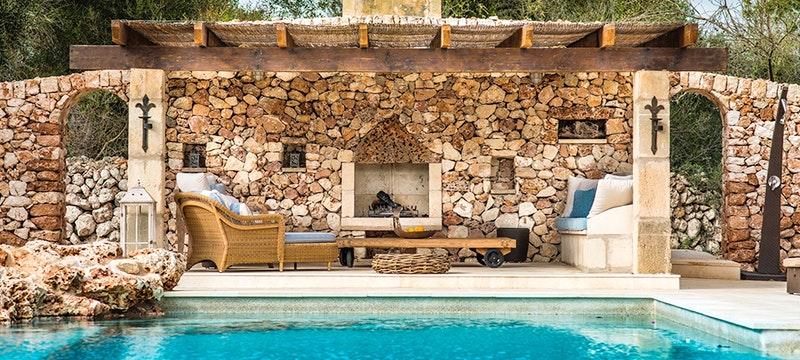 Pool Area at Villa Eulalia, Mallorca, Spain