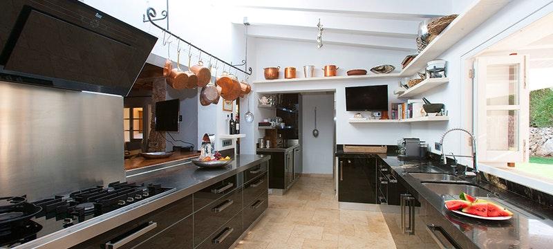 Kitchen at Villa Eulalia, Mallorca, Spain