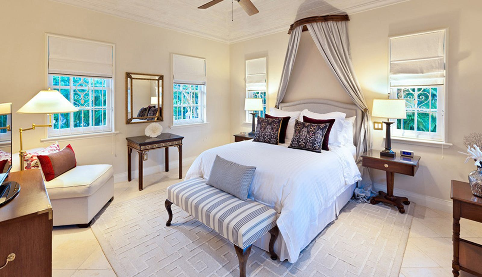 Bedroom at Windward House Villa, Sandy Lane Barbados