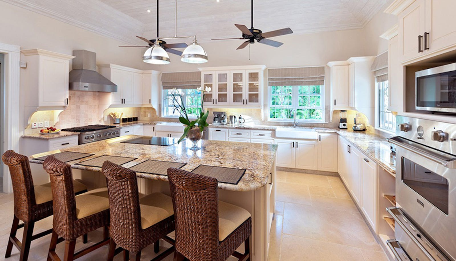 Kitchen Area at Windward House Villa, Sandy Lane Barbados