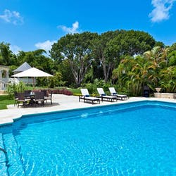 Pool Area at Windward House Villa, Sandy Lane Barbados