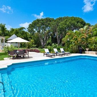 Pool Area at Windward House Villa, Sandy Lane Barbados