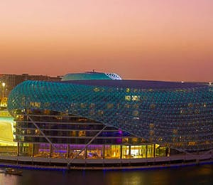 Drone View of Yas Viceroy, Abu Dhabi