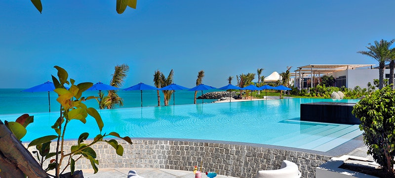 Pool area at Zaya Nurai Island