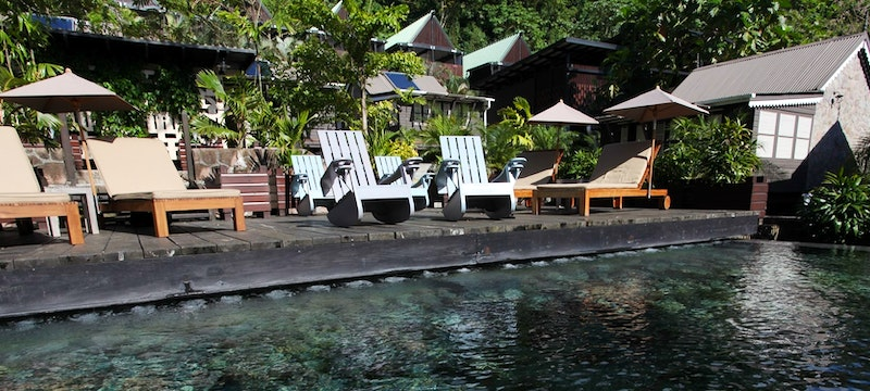 Pool side area at Boucan by Hotel Chocolat