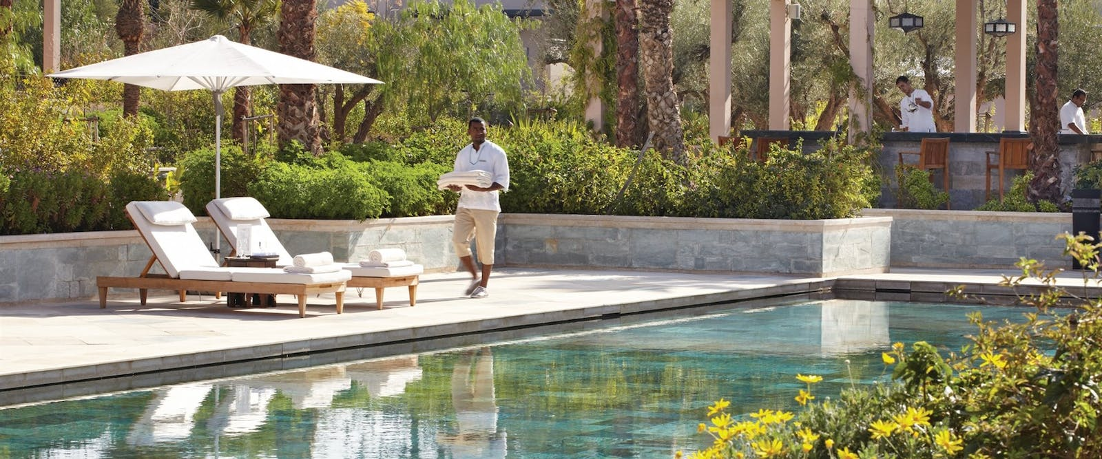 Adults Pool at Four Seasons Marrakech, Morocco