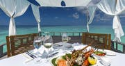 Lunch at the piano deck at Baros, Maldives