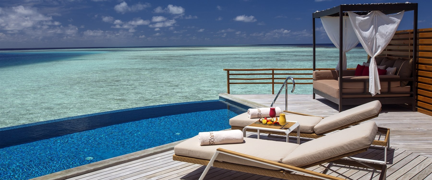 private swimming pool at Baros, Maldives