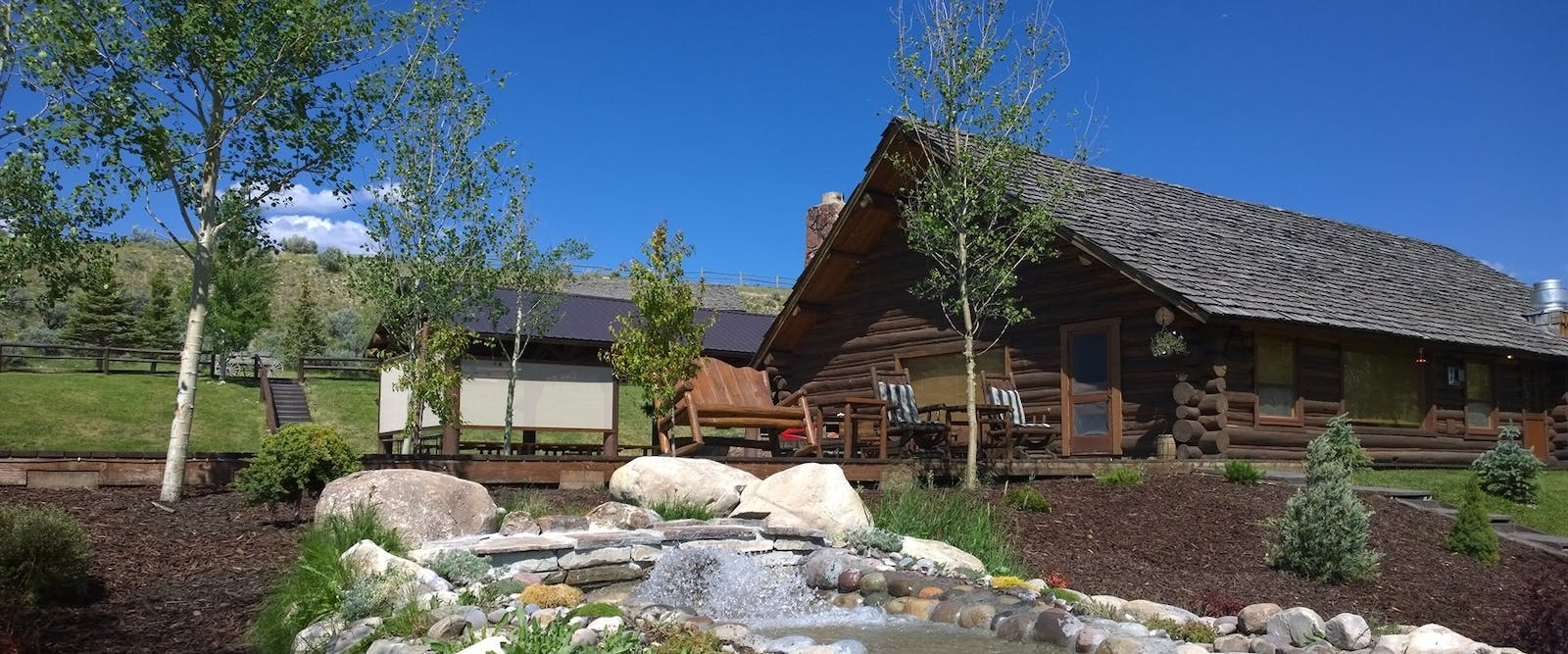Exterior Of Lodge At Goosewing Ranch