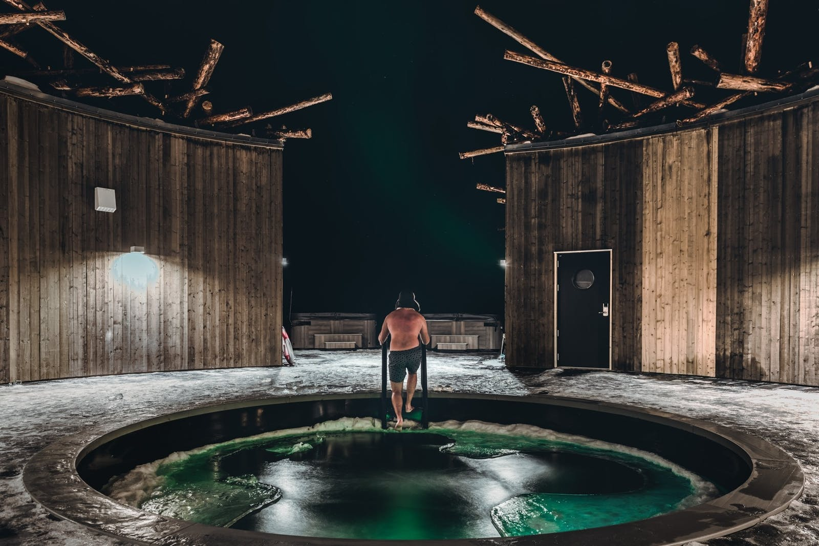 Outdoor cold bath, Arctic Bath, Sweden