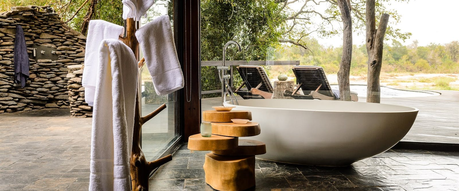 Outdoor Bath at Singita