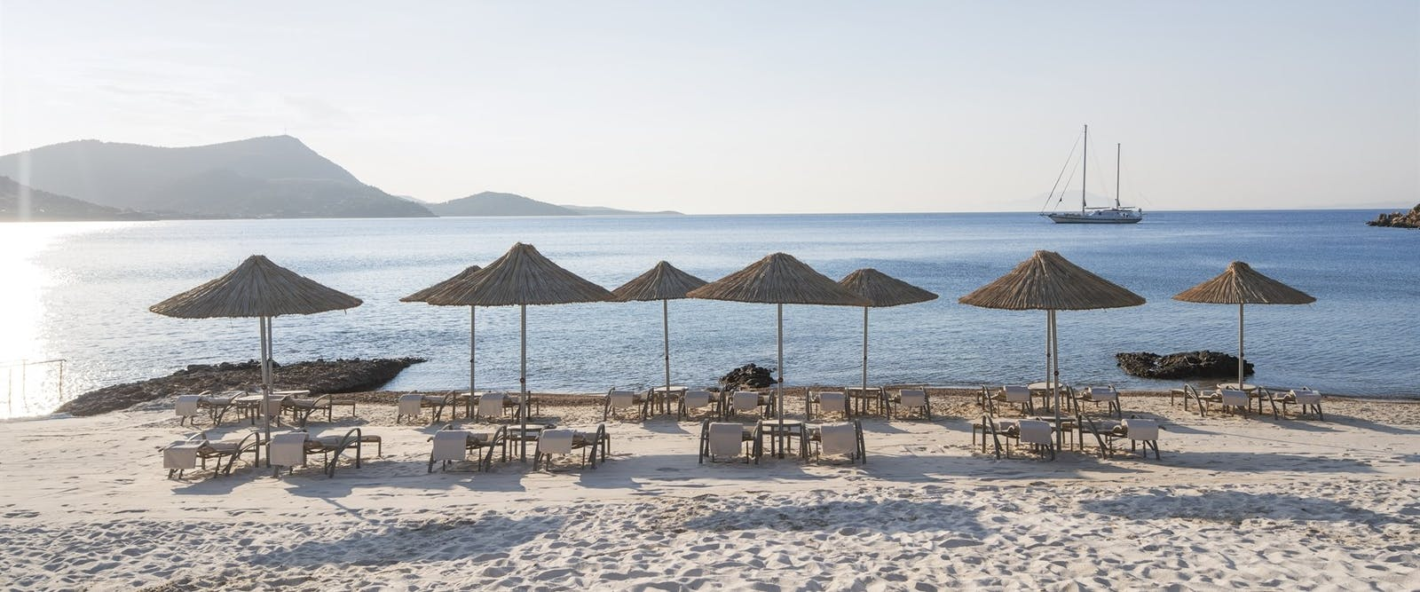 Beach, Kempinski Hotel Barbaros Bay, Bodrum, Turkey
