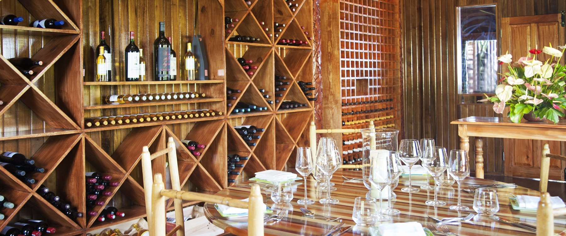 Wine Room at Ladera, St Lucia