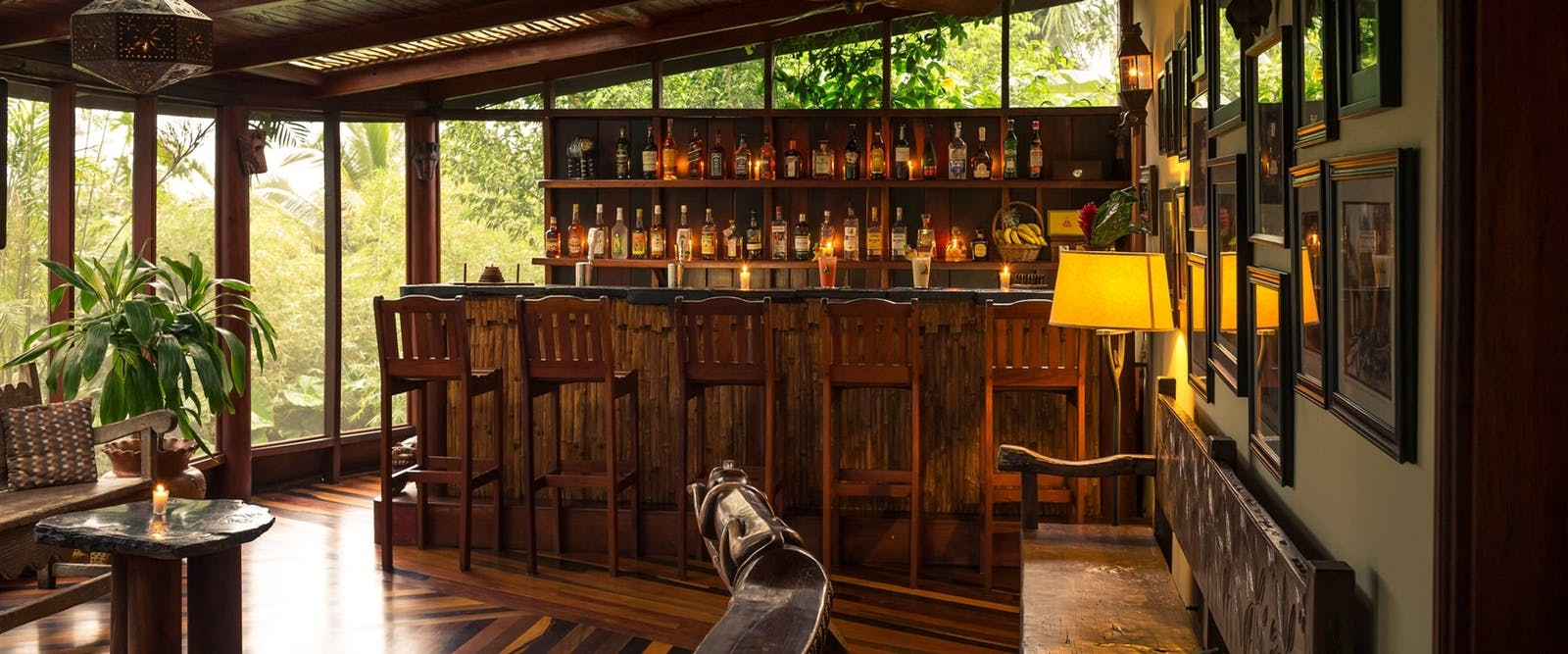 bar area, Blancaneaux Lodge, Belize