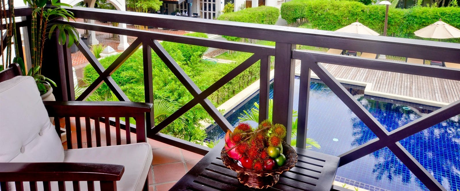 Balcony with Pool View at Ansara, Laos