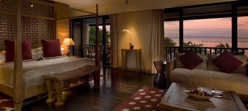 Presidential suite bedroom at Conrad Bali Resort & Spa