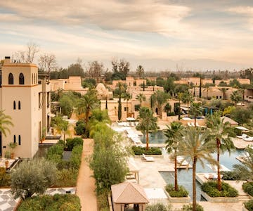 Relax in a Moroccan spa as the children learn and play in the dedicated Children's Kasbah at October Half Term<place>Four Seasons Resort Marrakech</place><fomo>213</fomo>