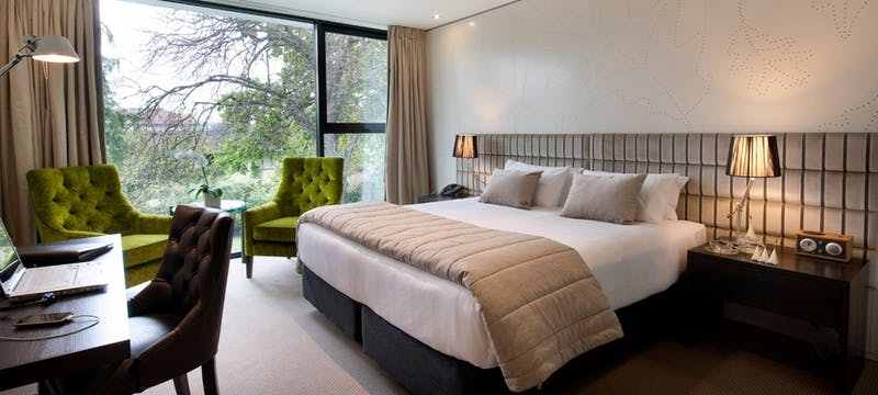 Guest bedroom at The George, Christchurch