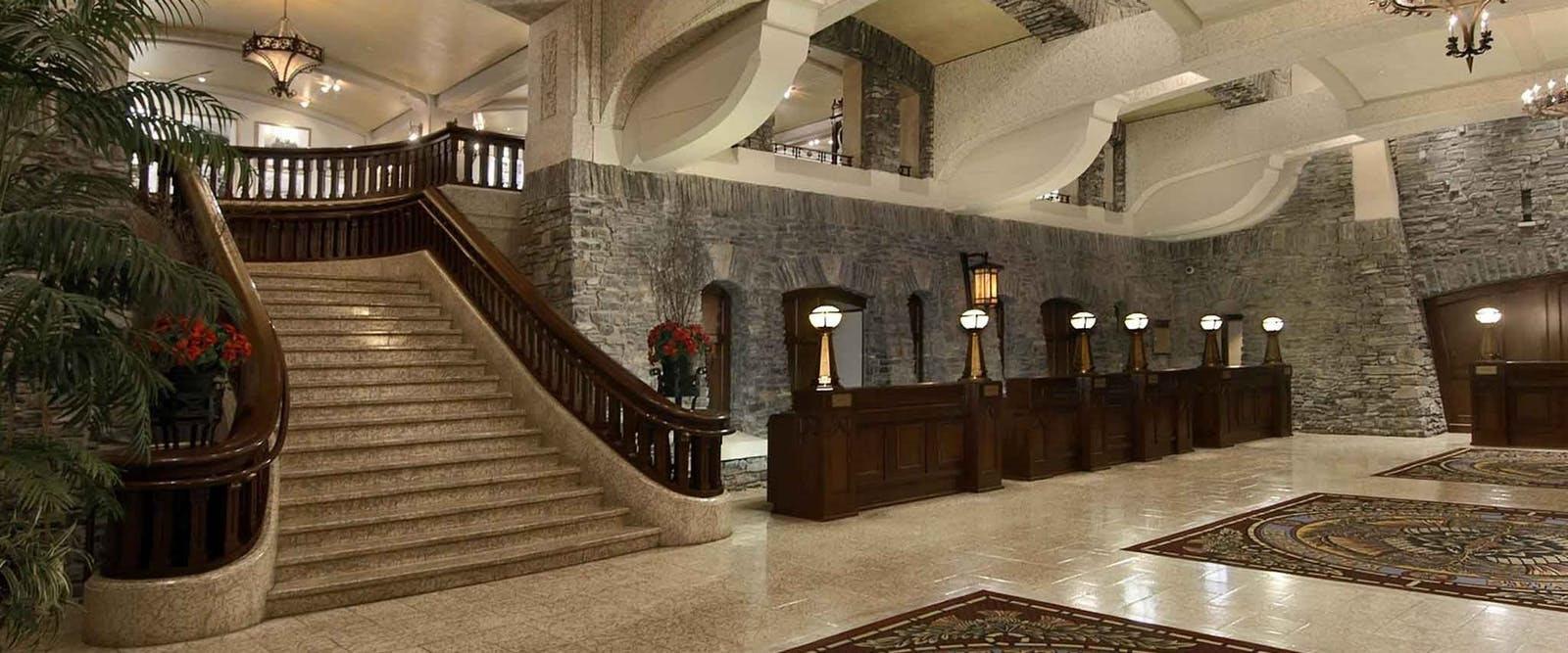 Lobby at Fairmont Banff Springs, Alberta