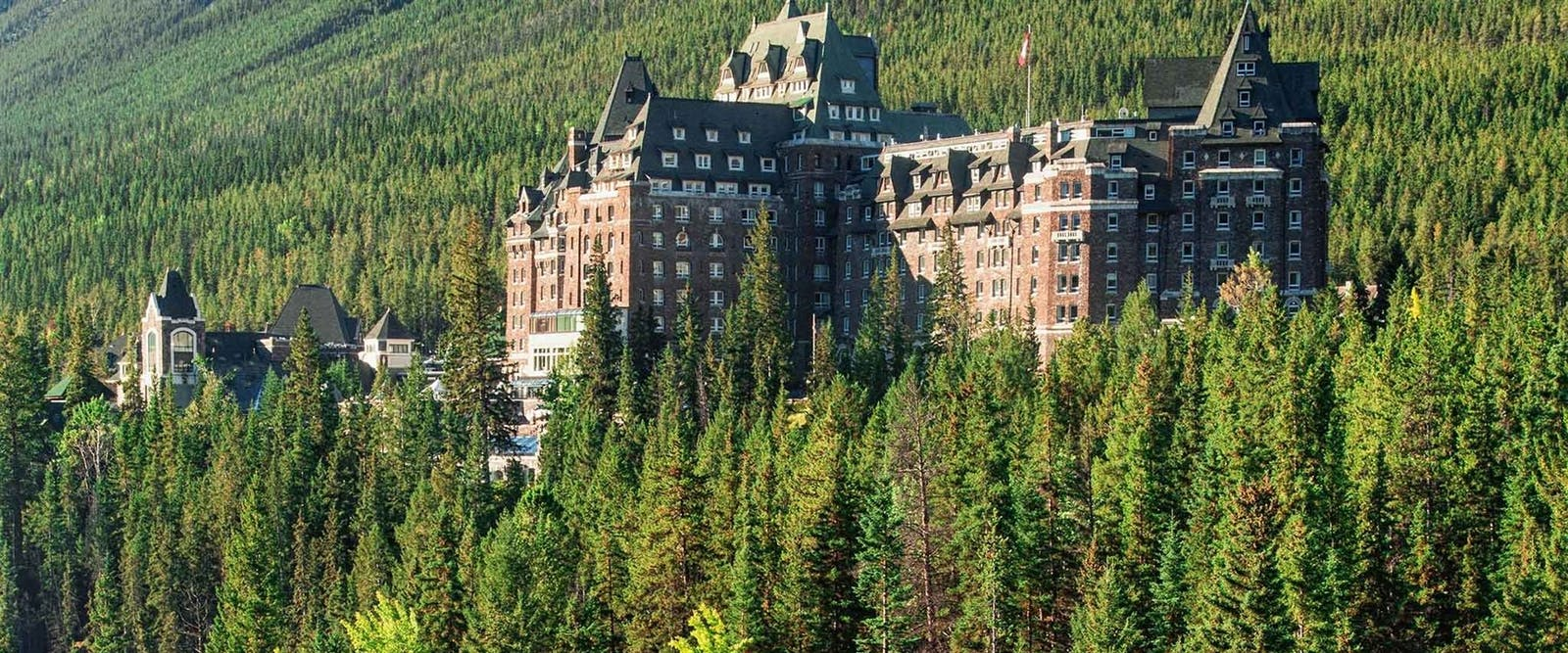 Aerial View of Fairmont Banff Springs, Alberta