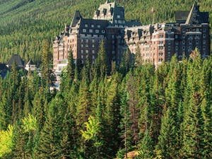 exterior of fairmont banff springs alberta