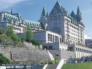 Exterior of Fairmont Chateau Laurier, Ontario
