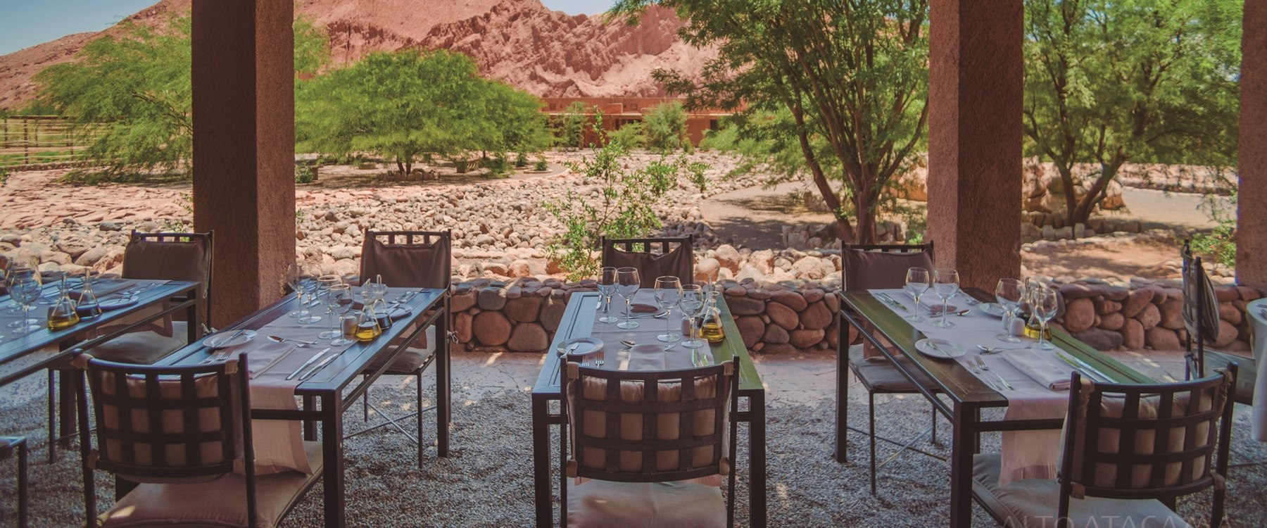 Outdoor restauant at alto atacama, Chile