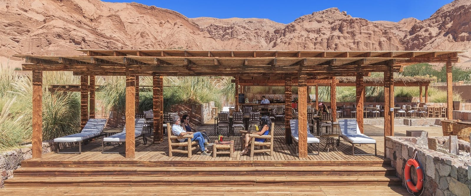 Pool bar at alto atacama, Chile