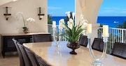 Enjoy breakfast, lunch and dinner on your private terrace in the deluxe beachfront penthouse at Saint Peters Bay, Barbados