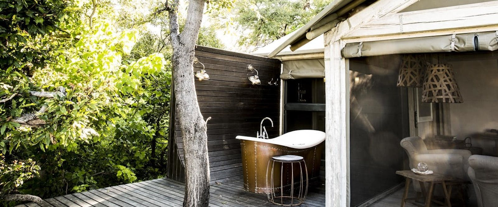 Romantic Outdoor Bath and Shower at Abu, Abu Camp