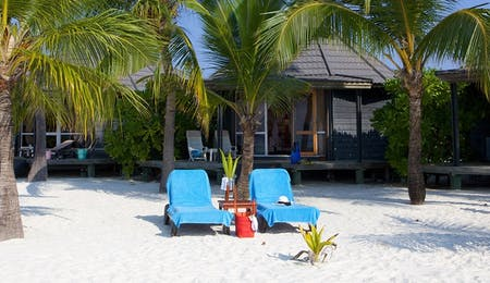 Beachfront accommodation at Kuredu Island Resort, Maldives