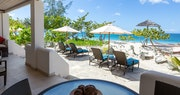 Private patio in Cinnamon and Saffron Suites at Spice Island Beach Resort, Grenada