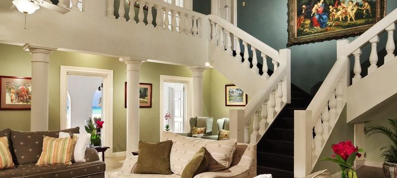 Living room area at Royal Villas at Half Moon