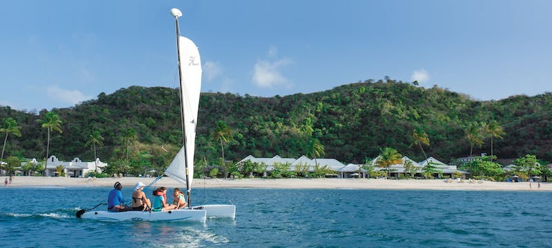 water sports at spice island beach resort