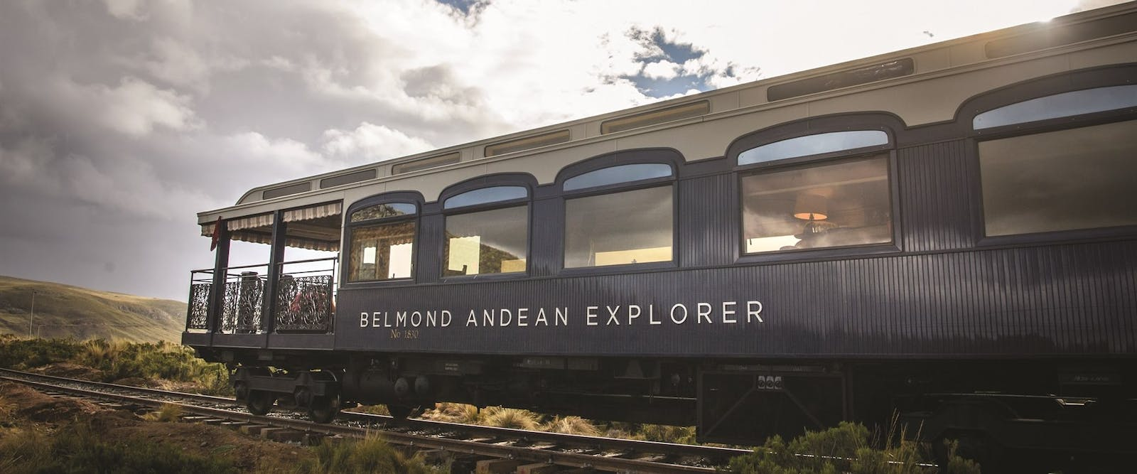 exterior view, Andean Explorer, A Belmond Train, Peru