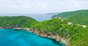 Stunning shot of Guana Island, British Virgin Islands