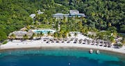 Beautiful aerial view of Sugar Beach, A Viceroy Resort