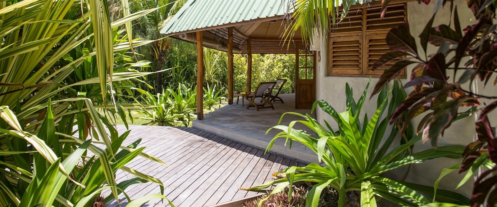 Beach Cottage Exterior at Denis Private Island, Seychelles